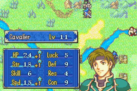 Fire Emblem (Chapter 8 Sain Level up).pn