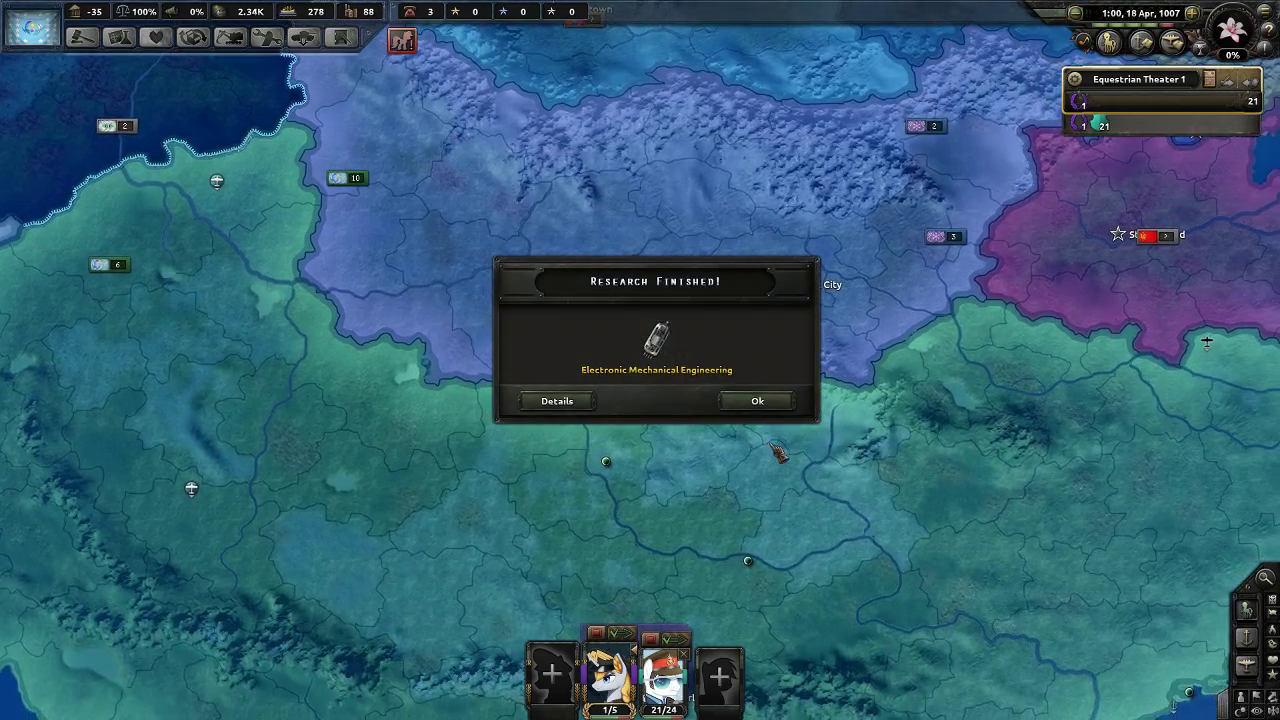 Screenshot Let's Play/No 56K] Hearts of Iron IV    as